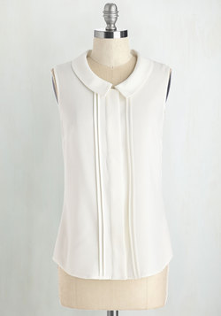 Profesh of Both Worlds Top in White