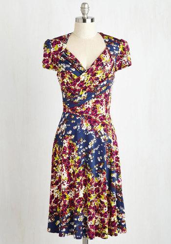 Vivid in the Moment Dress in Dusk Garden $159.99 AT vintagedancer.com