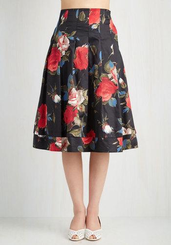 Greenhouse Grandeur Skirt in Black