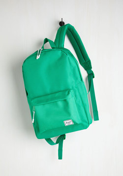 Pack on Track Backpack in Kelly Green