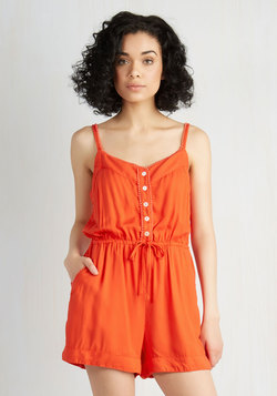 Smile With Me Romper in Persimmon