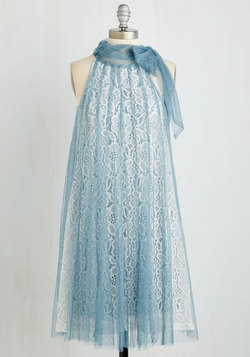 Time and Grace Dress in Dusty Blue