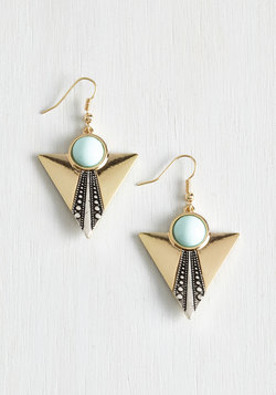 Frill it Up Earrings in Mint