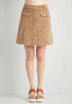After Dinner Cord-ials Skirt in Caramel
