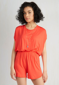 Canoe Handle This? Romper in Poppy