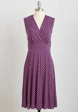 Dock Party Dress in Dots