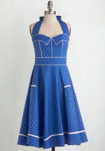 Blueberry Buckle Dress $89.99 AT vintagedancer.com