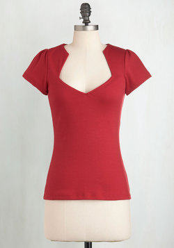 Ooh La La Lady Top in Cherry