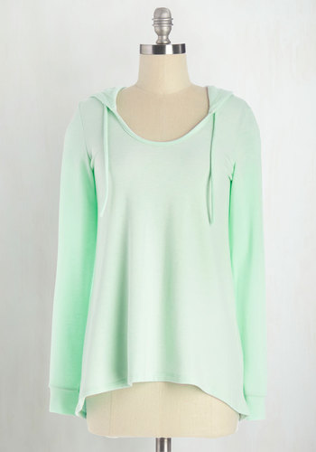 Cookie Competition Hoodie in Mint - Knit, Mint, Solid, Casual, Pastel, Minimal, Hoodie, Long Sleeve, Spring, Summer, Good, Scoop, Green, Long Sleeve, Beach/Resort, Mid-length, Athletic, Top Rated