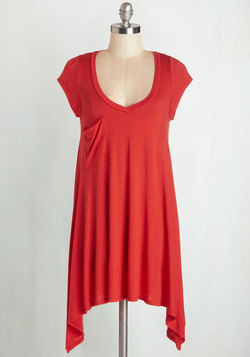 A Crush on Casual Tunic in Tomato