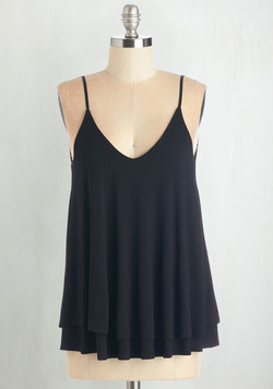Let's Tier It for the Poise Top in Black