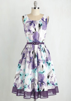 Spellbinding Ability Dress in Grape