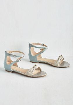 I've Got a Secret Sandal in Metallic Blue