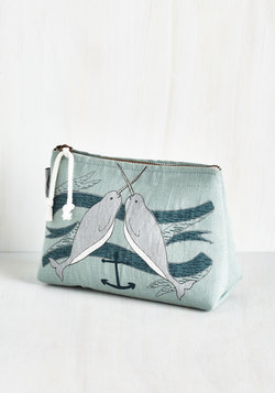 Give It Your Narwhal Makeup Bag