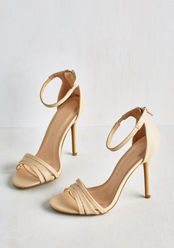 Sought-After Sophistication Heel in Ecru