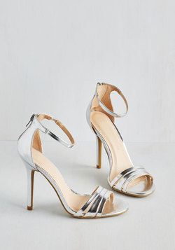 Sought-After Sophistication Heel in Silver