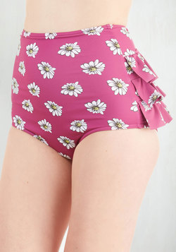 Vacation Daisies Swimsuit Bottom in Orchid