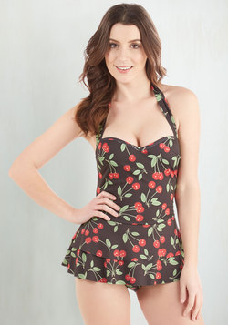 Cherry Pit Stop Swim Dress