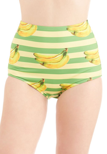 Dive for Excellence Swimsuit Bottom in Banana Stand