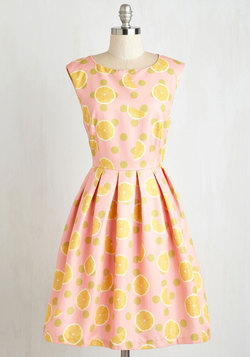 Dropping By for a Visit Dress in Lemon