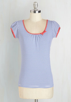 The Cutest Cruise Top in Blue Stripe