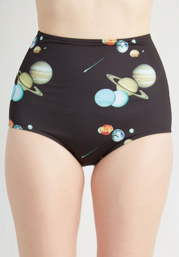 You Odyssey This Swimsuit Bottom - Knit, Multi, Novelty Print, Beach/Resort, Pinup, Vintage Inspired, Sci-fi, Nifty Nerd, Cosmic, High Waist, Summer, Exclusives