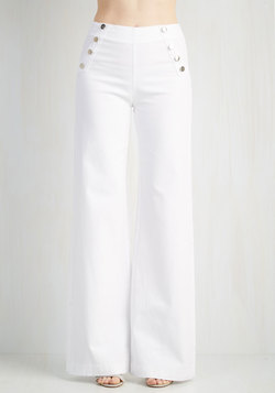 Sailorette the Seas Jeans in White