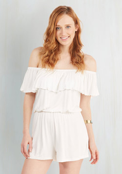 Fun O'Clock Romper in Ivory