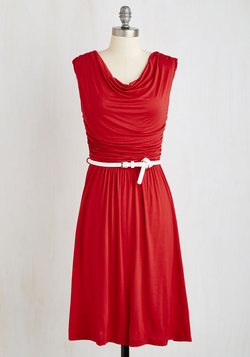 Bayside Vacay Dress in Red