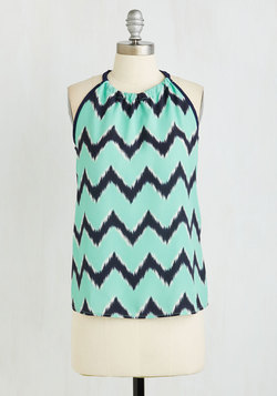 When All is Said and Fun Top in Aqua