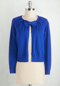 Bow My Way Cardigan in Cobalt