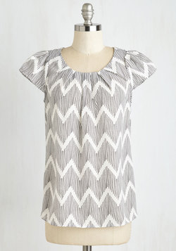 Steal the Show Top in Chevron