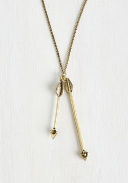 Hits the Mark Necklace in Gold