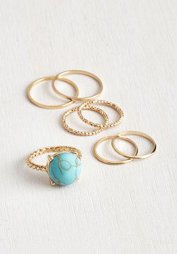 Just A Stone's Glow Ring Set