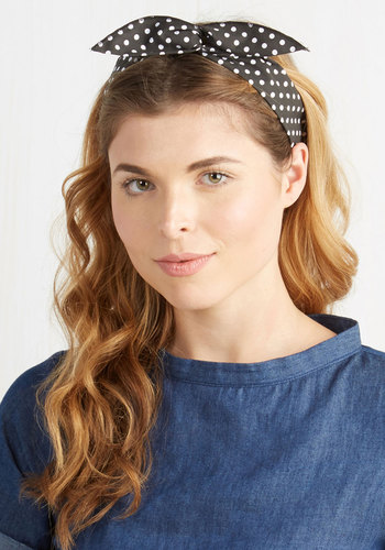 Through the Wire Headband in Spots - Black, White, Polka Dots, Pinup, Better, Variation, Americana, Summer