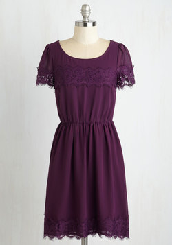 One of a Kindhearted Dress in Plum