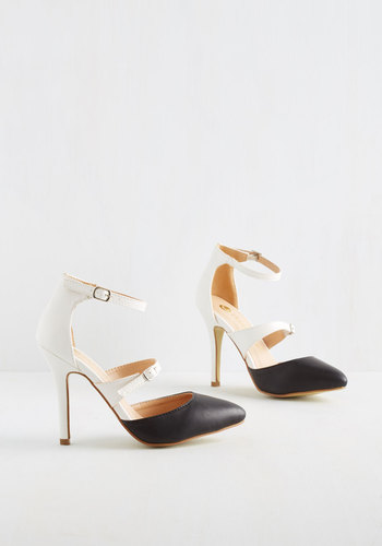 Head to Two-Tone Heels