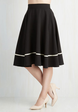 Streak of Success Skirt in Black