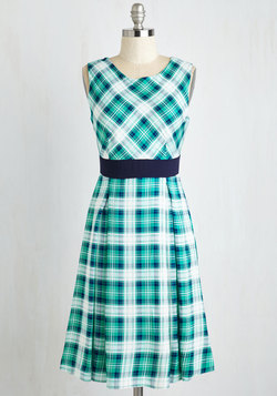 Plaid-vertising Executive Dress