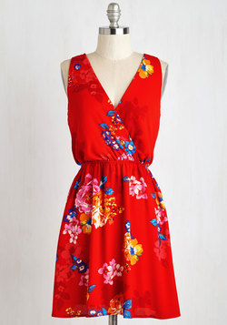 And I Love Fleur Dress in Ruby