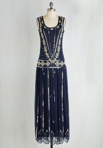 Winsome Wonderment Dress in Midnight $239.99 AT vintagedancer.com