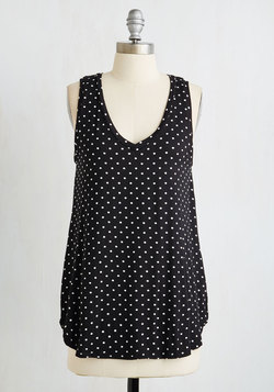 Endless Possibilities Top in Black Dots