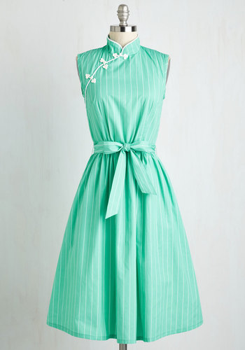 Biographical Book Club Dress in Seaglass $139.99 AT vintagedancer.com