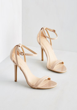 Think Posh-itive Heel in Champagne