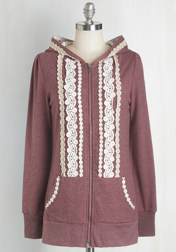 Ever So Soften Hoodie in Berry - Red, Hoodie, Casual, 1, Fall, Folk Art, Pockets, Best Seller, Lace, Press Placement, Good, 4th of July Sale, Crochet, Top Rated, Solid, Lace, Long Sleeve, Spring, Summer, Knit, Mid-length, Tis the Season Sale
