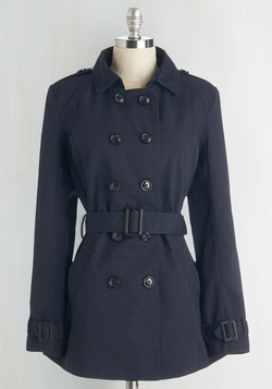 Fan You Believe It? Coat in Navy