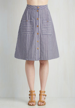 Swap Meet Sweetheart Skirt in Stripes