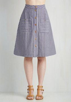 Swap Meet Sweetheart Skirt in Stripes