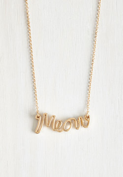 What's My Feline Again? Necklace