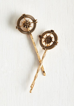 Good Things to Compass Hair Pin Set